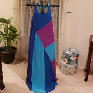 Lane Bryant Color Block Maxi Dress